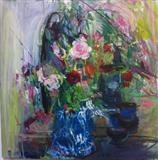 February Roses for my lovely by Chloe Mandy, Painting, Oil on canvas