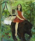 Narrative-  The bear by Chloe Mandy, Painting