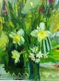 st Davids Day by Chloe Mandy, Painting, Oil on canvas